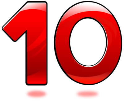 10 Numbers Hd Photo PNG Images