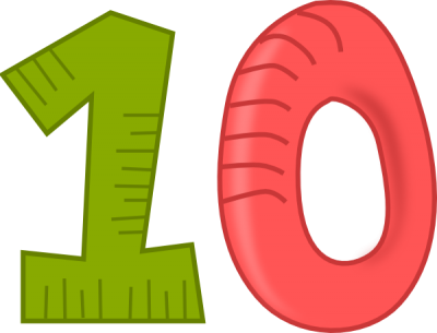 10 Numbers Clipart File PNG Images