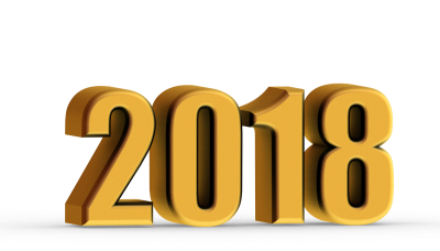 2018 Happy New Year 3d Png
