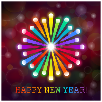 Clipart Happy New Year Card PNG Images