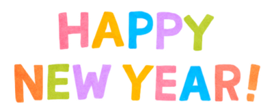 Happy New Year Text Banner Png