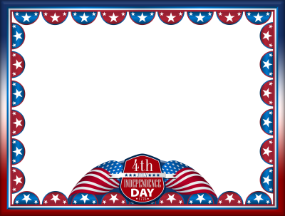 4th July indepence Day Frame Transparent Background PNG Images