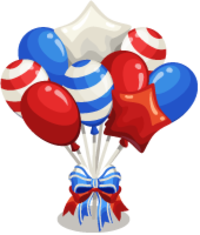 4th Of July Balloon Ribbon Hd Transparent Background PNG Images