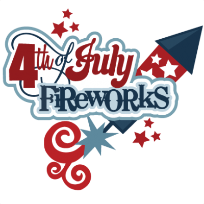4th Of July Fireworks Logo Png PNG Images