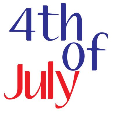 4th Of July Text Logo PNG Images