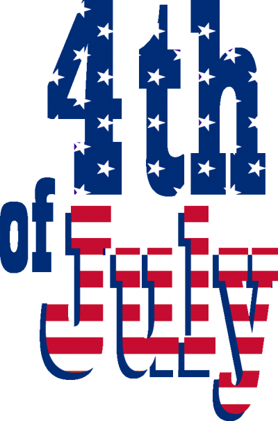 American Flag Design On 4th Of July Text Transparent PNG Images