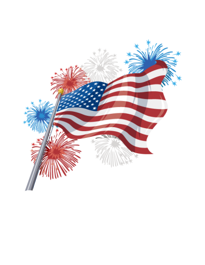 Fireworks With Usa Flag indepence Day Png PNG Images