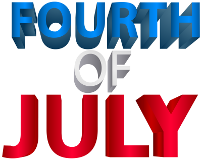 Fourth Of July Hd Text Logo Png PNG Images