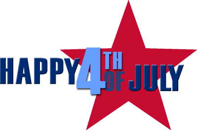 Happy 4th Of July With Red Star Png PNG Images
