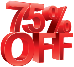 75% Off Image Download PNG Images