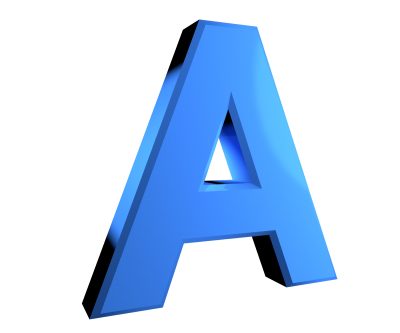 A Simple Blue Alphabets PNG Images