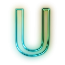 Transparent Green Alphabet U Image PNG Images