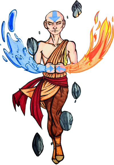 Strategist, Avatar Aang, Fire And Water PNG Images