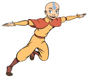 Aang Anime Characters Fight