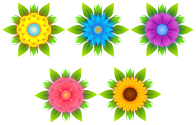 Abstract Flower Background PNG Images