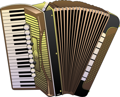 Simple Accordion Image Clipart Style Illustration