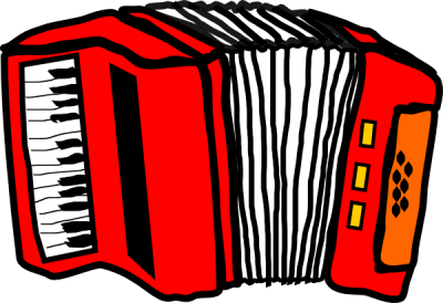 Accordion Red Clipart Vector, Accordion Transparent PNG Images