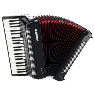 Hohner Bravo iii Piano Accordion Black Long PNG Images