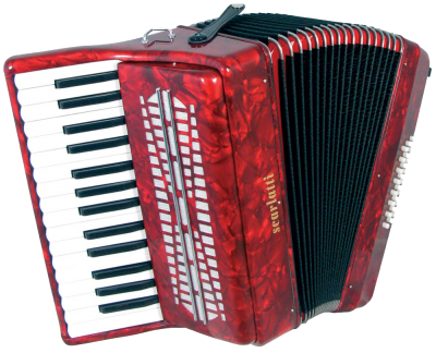 White Keyboard, Accordion Red Body, Black Color PNG Images