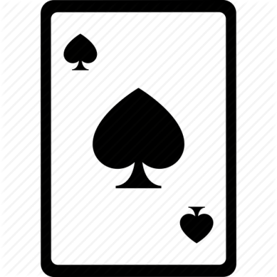 Ace Card Poker Spades Icon PNG Images