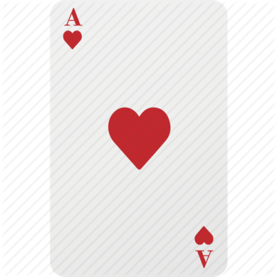 Ace Card Hazard Heart Playing Card Poker Icon PNG Images