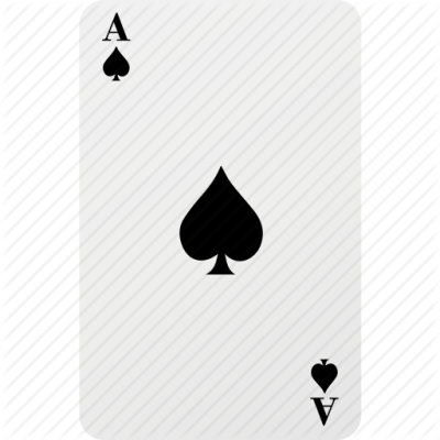 Ace Card Hazard Playing Card Poker Spad Icon PNG Images