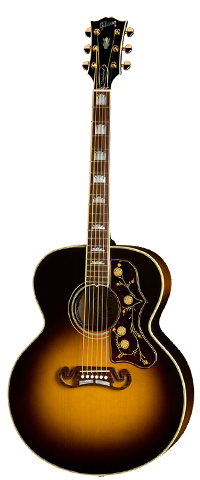 Gibson Acoustic Guitar Black And Brown Image Photo
