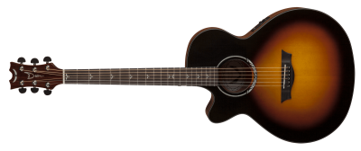 Beautifully Styled, Black And Brown Acoustic Guitar Photo