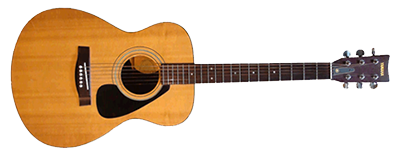 Plain Looking Wooden Acoustic Guitar Photo PNG Images
