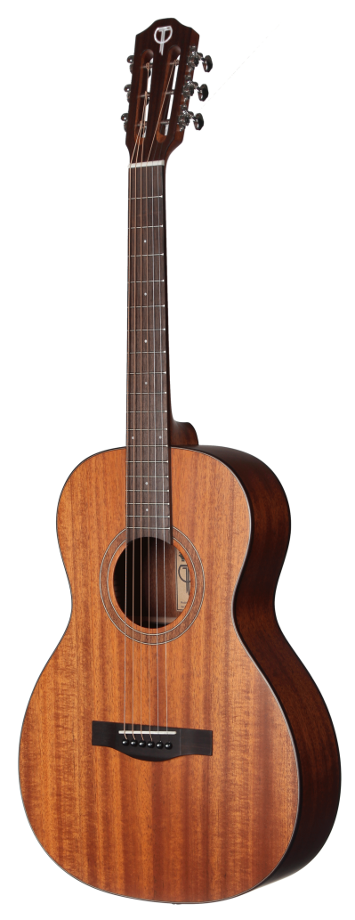 Stylish, Classic-looking Wooden Pattern Acoustic Guitar Transparet Png