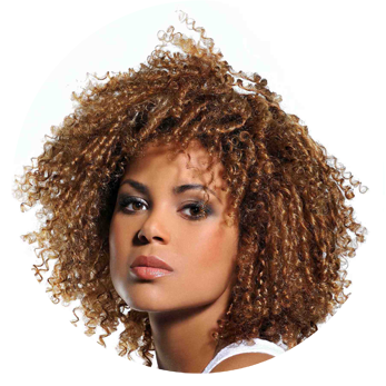 Curly, Auburn Afro Hair Png PNG Images