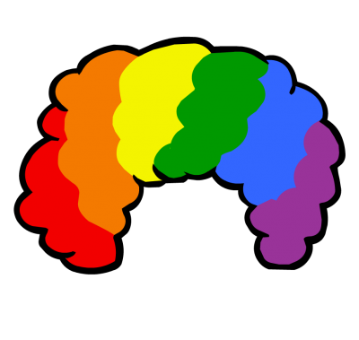 Rainbow Afro Colorful Png PNG Images