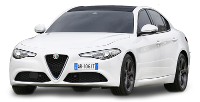 Alfa Romeo White Color Sedan Car Png Images
