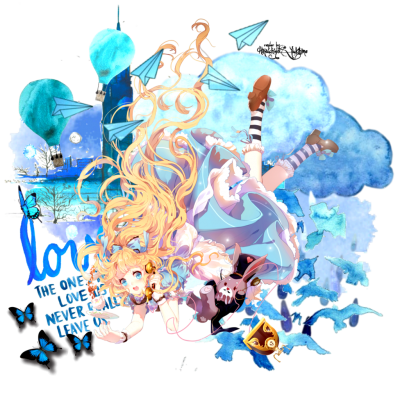 Blue Colors Alice in Wonderland Png PNG Images