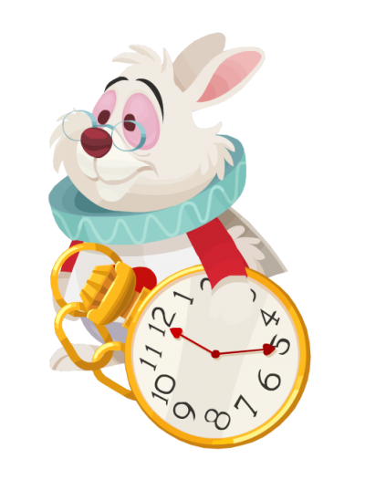White Rabbit Alice Png PNG Images