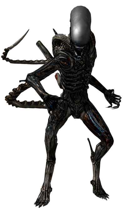 Scary Black Alien Transparent Image