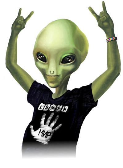 Rock,grey Alien Image