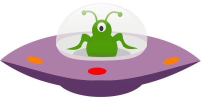 Ufo Driving Green Alien PNG Images
