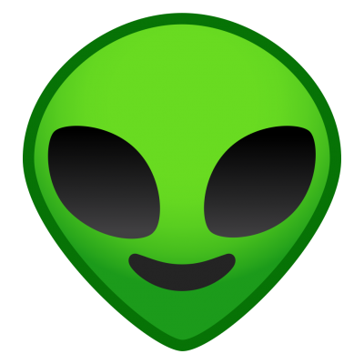 Smiley Green Alien Emoji Transparent Png