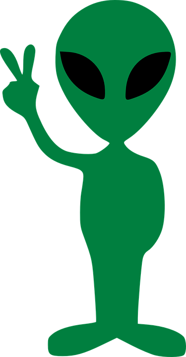 Alien Gesture Peace Victory Free Vector Graphic Pixabay
