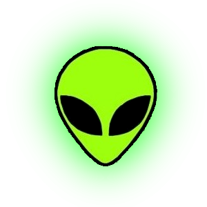 Green Glowing Alien Emoji  Transparent Png
