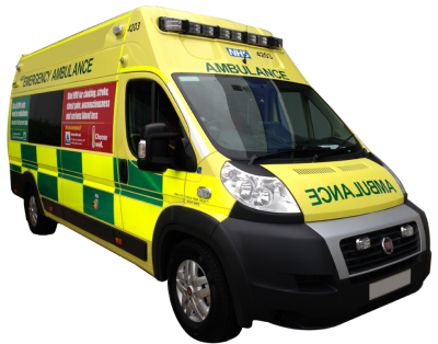 Fiat Emergency Ambulance Yellow Transparent Background