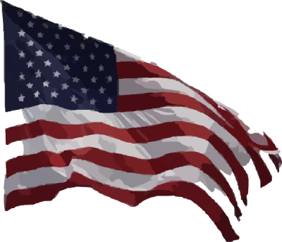 American Flag Vector Clip Art  PNG Images