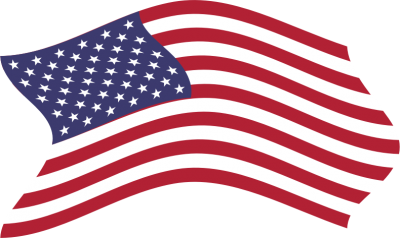 Clipart American Flag Breezy 5 PNG Images