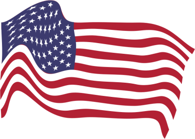 Clipart American Flag Breezy 8 PNG Images