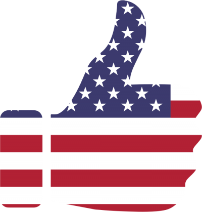 Clipart Thumbs Up American Flag