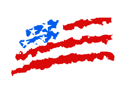 Waving American Flag Drawing Png