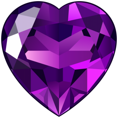 Amethyst Stone, Hearts, Lovers, Stone Png
