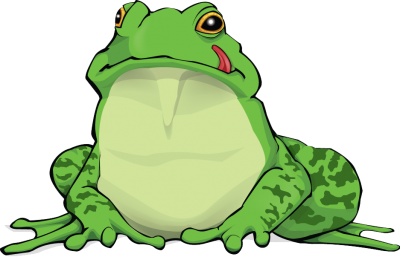 Great Frog Amphibian Green Language Out There HD Clipart