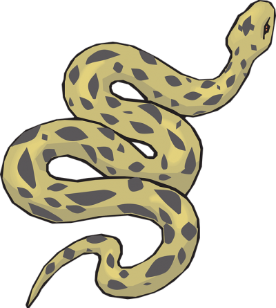 Green Black Snake Polka Dotted Clipart